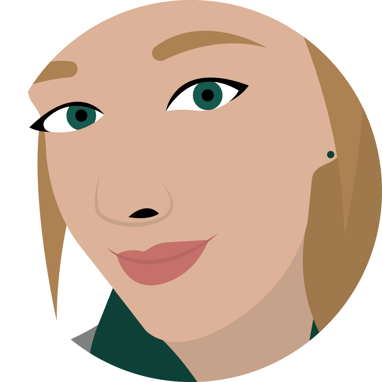 An illustration of the designer, Jennifer Sommerfeld