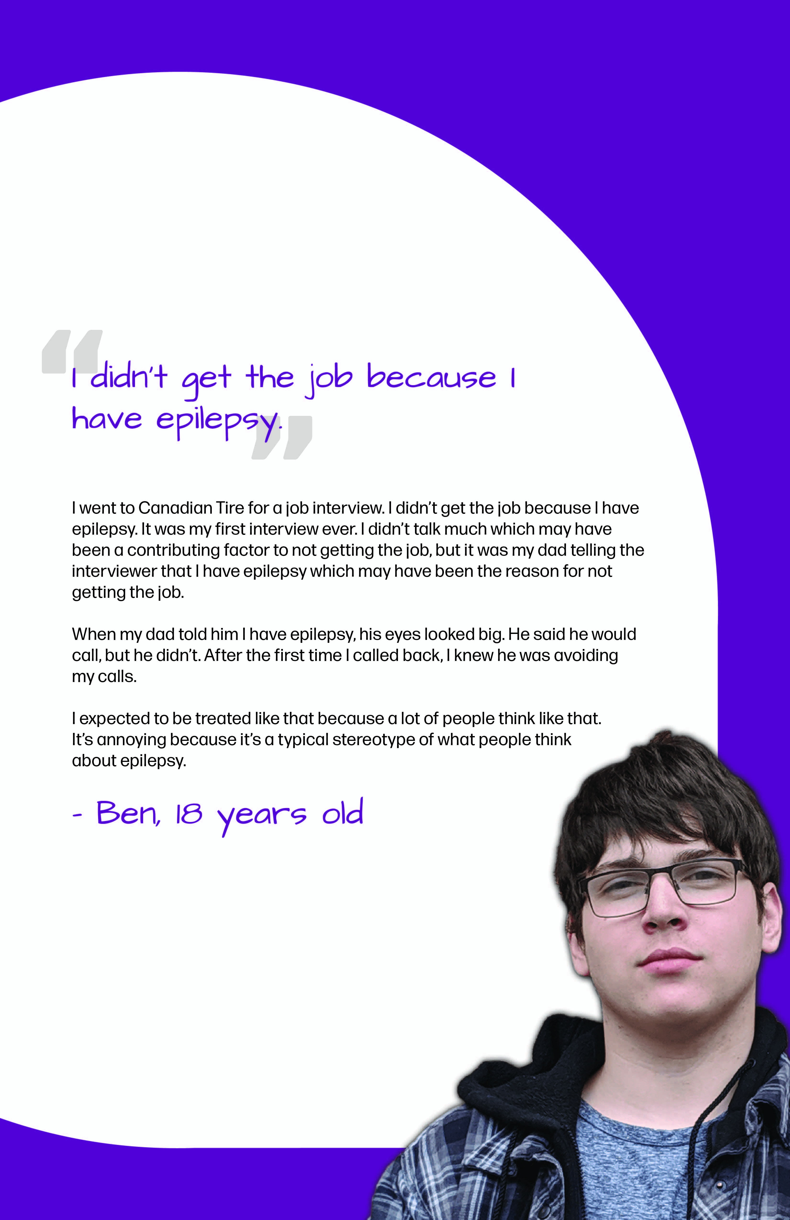Ben's Epilepsy Perspective Images Club story poster