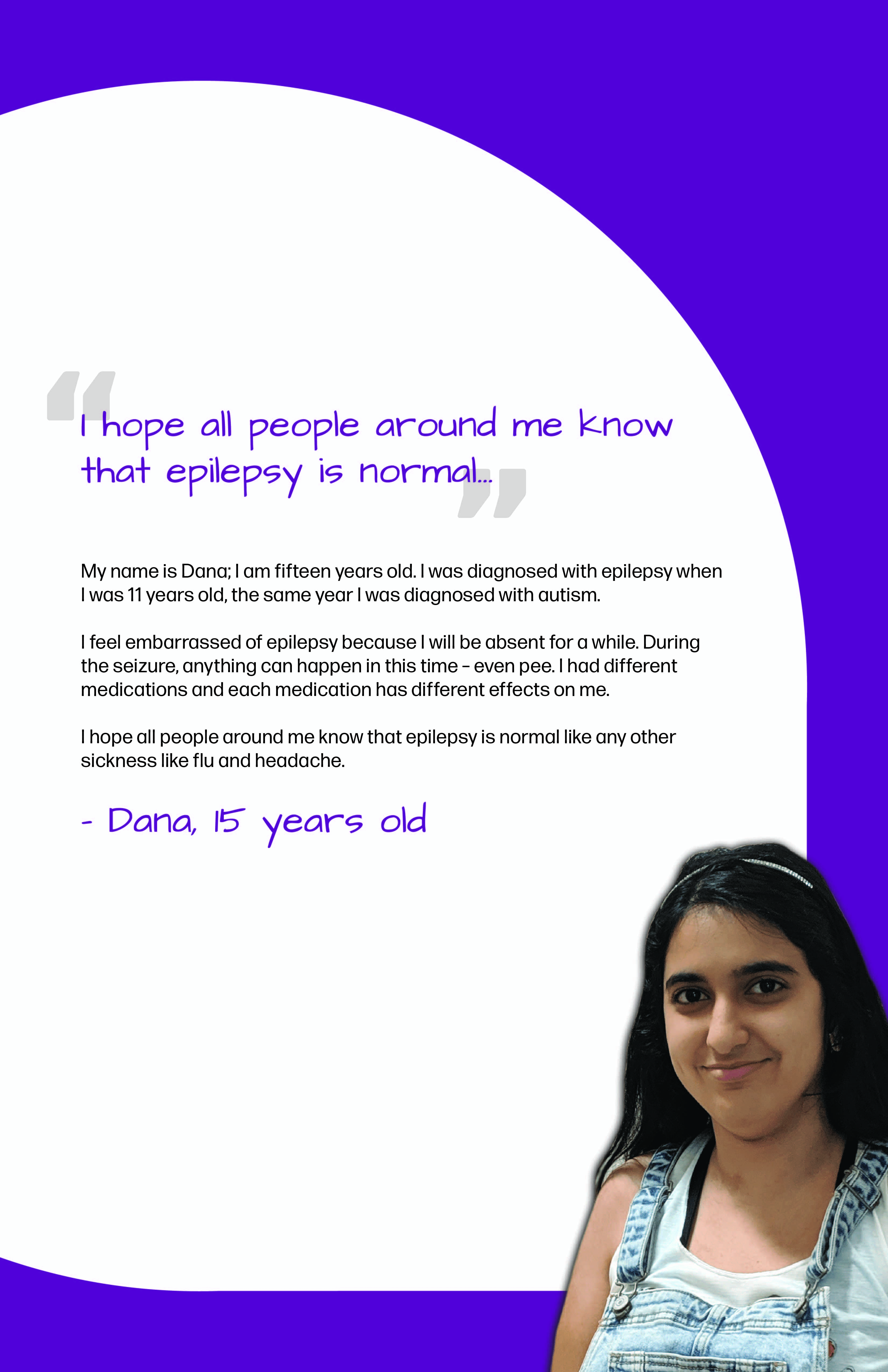 Dana's Epilepsy Perspective Images Club story poster